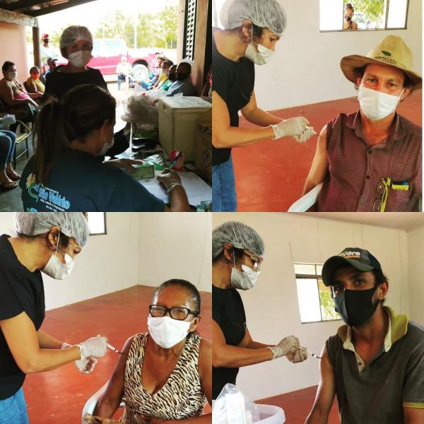 Saúde! Vacinação Contra a (Covid-19) Avança na Zona Rural de São Valério!