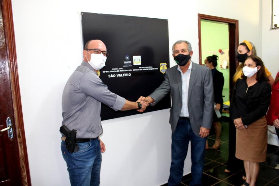 Prefeitura de São Valério e Secretaria da Segurança Pública do Estado Inauguram Núcleo de Identificação.