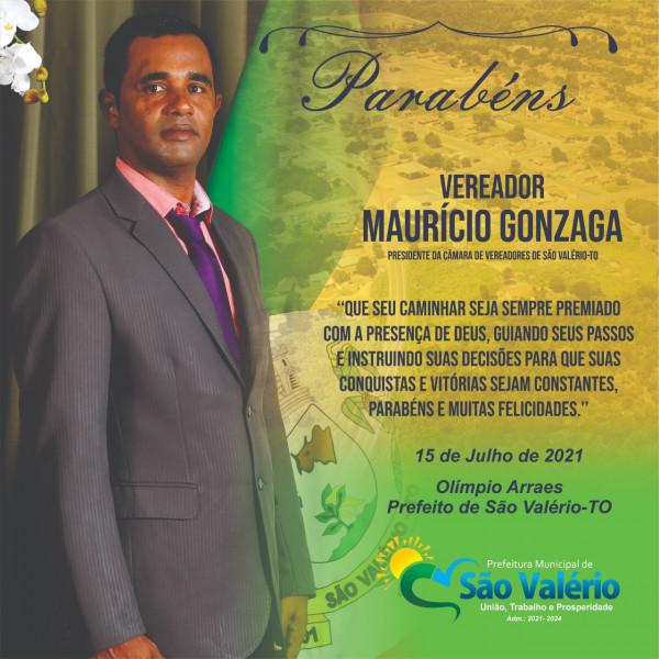 Vereador Maurício Gonzaga Presidente da Câmara de Vereadores de São Valério-TO