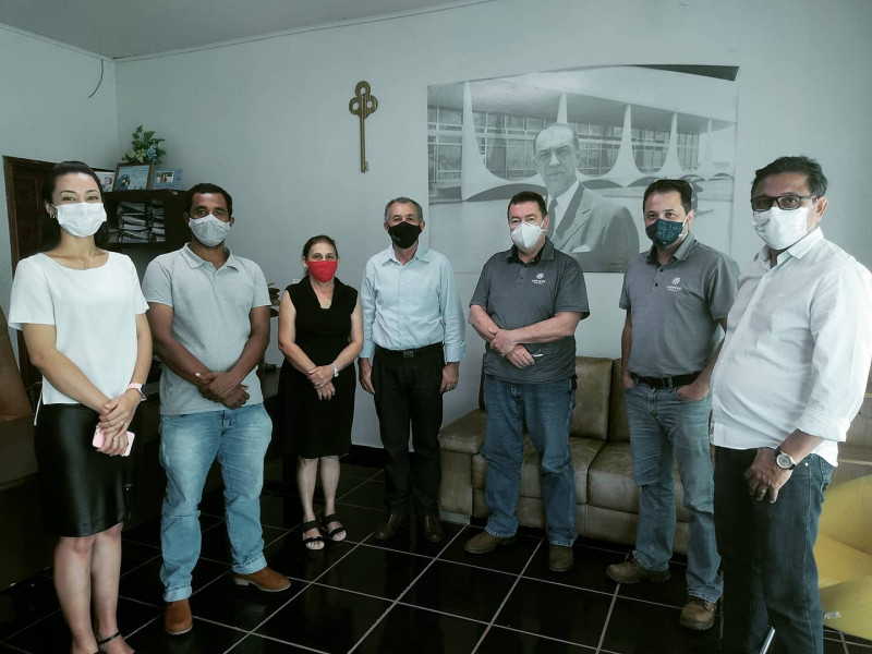 Executivos de empresa de São Valério fazem doação de máscaras e ressaltam o excelente atendimento da Saúde!