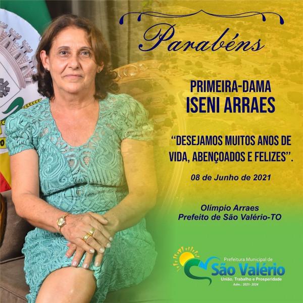 Hoje as homenagens são para nossa Primeira-Dama do município de São Valério-TO.