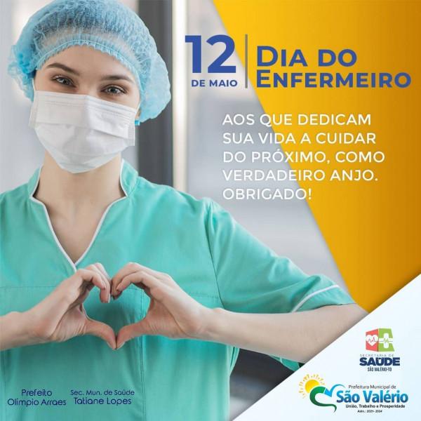 A Prefeitura de São Valério Parabeniza a Todos os Profissionais de Enfermagem Pelo seu Dia!