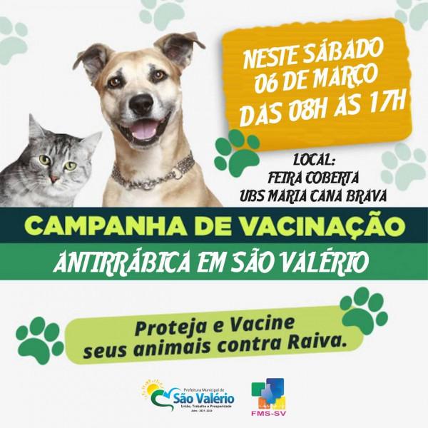 Campanha de Vacinação Antirrábica!