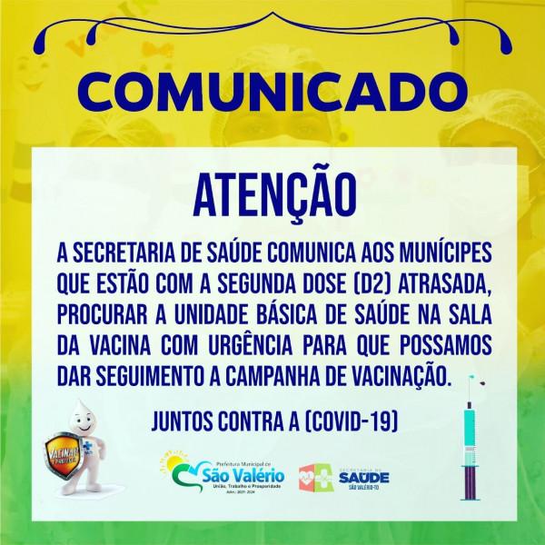 Secretaria de Saúde! COMUNICADO URGENTE!