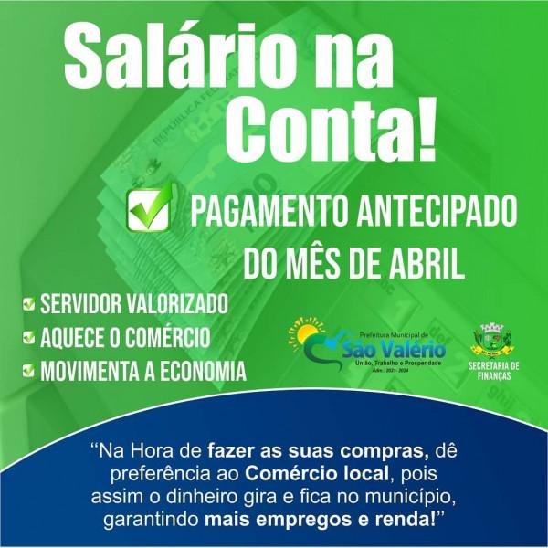 Prefeitura Antecipa Pagamento dos Servidores!