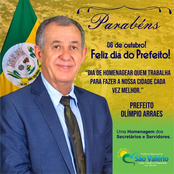 Parabéns! 06 de Outubro dia do Prefeito!